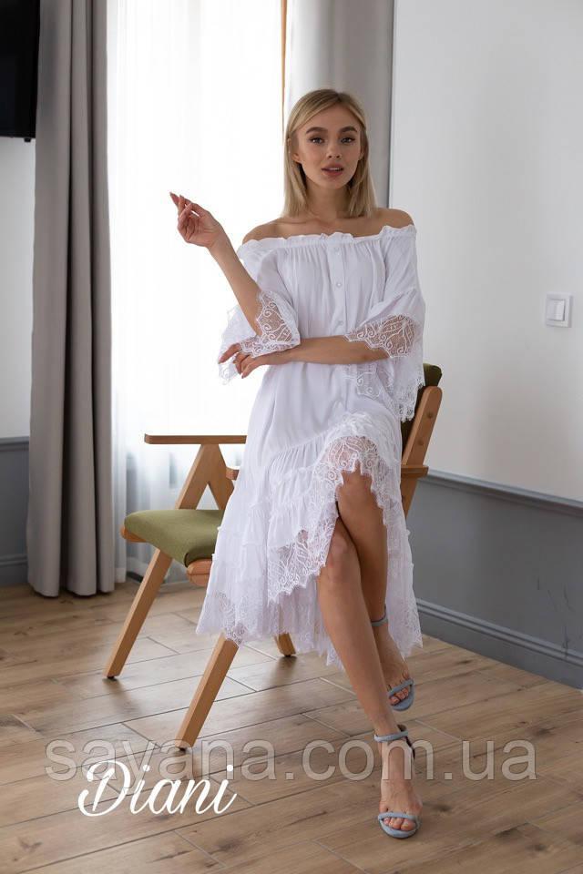 женское платье свободного силуэта