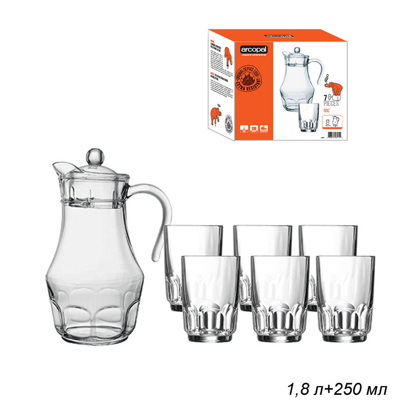 Набор для напитков Arcopal Roc из 7 предметов (L4987)