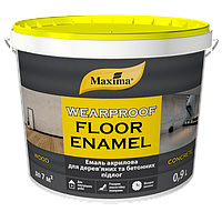 Maxima Эмаль акриловая для деревянных и бетонных полов Белый 3 л