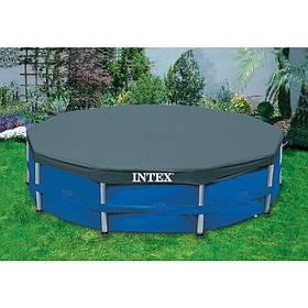 Тент для каркасного бассейна Intex 28030 305 см очень удобно