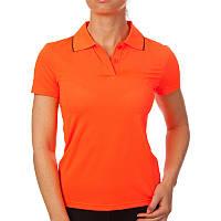 Футболка поло женская (оранжевый)