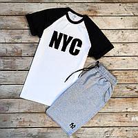 Футболка + Шорты + Скидка! Спортивный костюм мужской летний NYC, фото 1