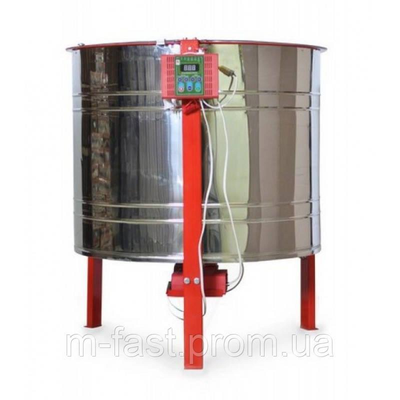 Медогонка 6-рамочная электроприводная (ременной привод) с самообарачивающимися касетами