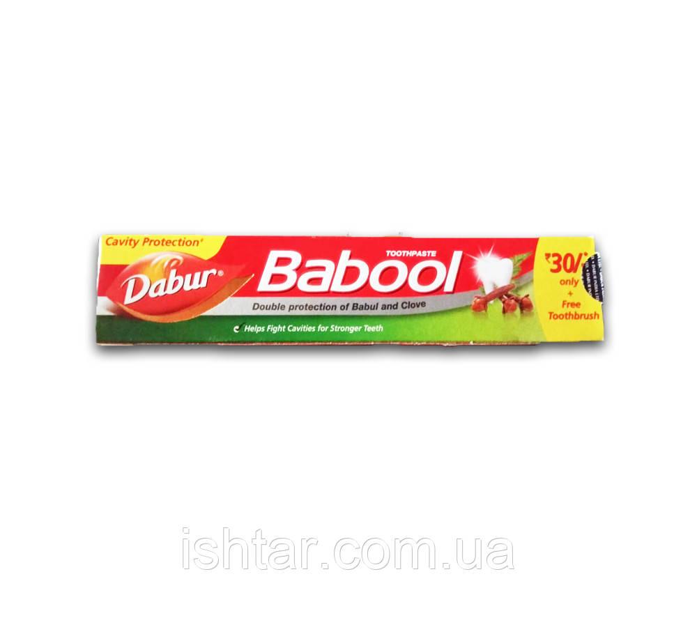 """Зубная паста """"Dabur"""" Babool с щеткой 80г."""