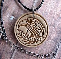 Кулон из натуральной кожи Орел Eagle, фото 1