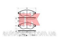 Колодки гальмівні дискові передні (комплект) NK 221959