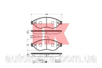 Колодки тормозные дисковые передние (комплект)NK 221959