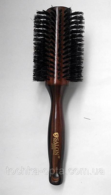 Брашинг для волос SALON PROFESSIONAL деревянный с натуральной щетиной(2270FM)