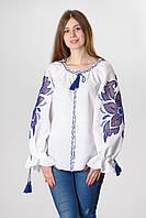 Блуза жіноча Диво-квітка , червоний колір, фото 1