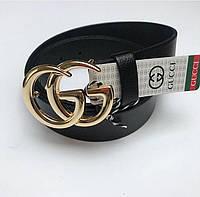 Ремень в стиле Gucci пряжка золотая