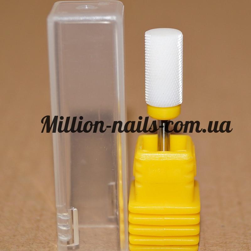 Насадка керамическая цилиндр  для снятия гель-лака(желтая) XF