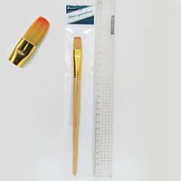 Кисточка художественная N-BP-10# (ГОСТ рос.№10), нейлоновая, плоская