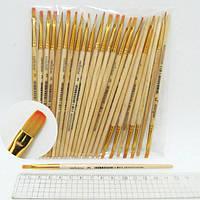 Кисточка художественная N-BP-3# (ГОСТ рос.№3), нейлоновая, плоская (25 шт/упак)