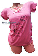 Женская пижама шорты и футболка