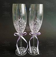 Crystalex Набор свадебных бокалов Sandy 190мл 9021