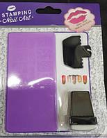 Набор стемпинга для ногтей (диск+печать+сребок)