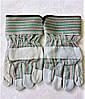 Перчатки рабочие замшевые ,спилковые, краги, пятипалые, цельная ладонь