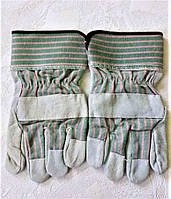 Рукавички робочі замшеві ,спилкові, краги, п'ятипалі, цілісна долоню, фото 1