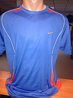 Мужская футболка синего цвета.NAIK.p.L.XL.SINGAPORE.