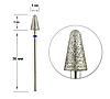Насадка для фрезера с алмазным напылением - конус с полусферой 5мм/9мм, фото 2