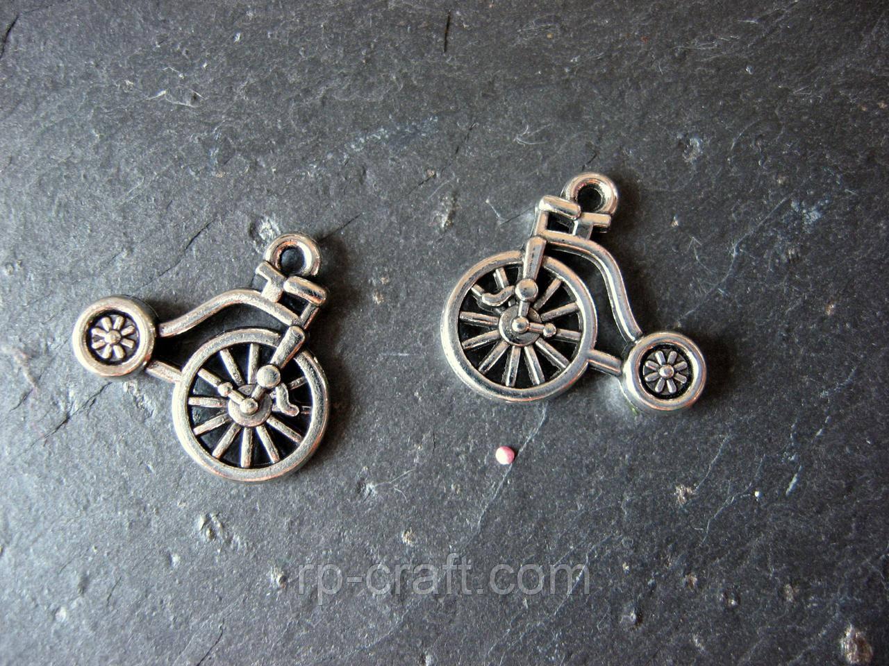 Підвіска металева. Велосипед 3D, 3х19х19 мм