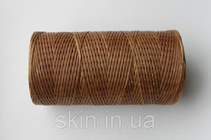Нитка вощёная, плоская, табачного цвета, толщина - 1 мм, 130 метров, артикул СК 5265, фото 2