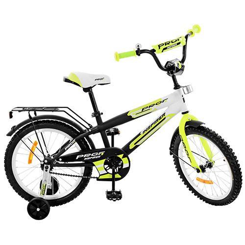 Велосипед детский PROF1 18д. G1854 Черно - салатовый