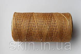 Нитка вощена, плоска, рудого кольору, товщина - 1 мм, 130 метрів, артикул СК 5376