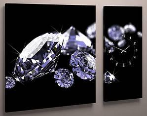 Часы настенные бриллианты 100х60