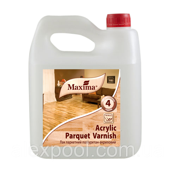 MAXIMA Лак паркетний поліуретан-акриловий шовковисто-матовий, 10 л