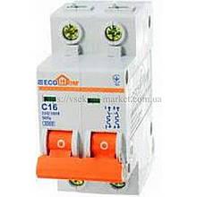 Автоматический выключатель ECO 2P 16A ECOHOME АСКО