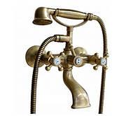 Бронзовый смеситель в ретро стиле для ванны Bugnatese Lady 900