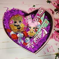 Шарик ЛОЛ с конфетами Киндер в подарочной упаковке сладкий сюрприз