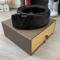b8eec7ba72ef Ремень Belt Louis Vuitton Initiales 40MM Damier Infini черный с логотипом,  в фирменной коробке
