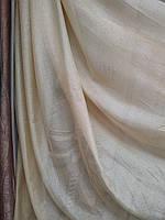 Тюль лен с люрексом золото, серебро , фото 1
