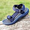 Босоножки сандалии мужские синие на липучках Restime (код 123) - чоловічі босоніжки сандалі сині