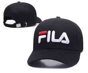 Бейсболка кепка Фила мужская/женская черная (реплика) Сap Fila Black