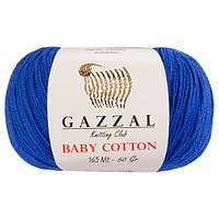 Пряжа из хлопка Gazzal Baby cotton 3421 василек (Газзал Беби Коттон)