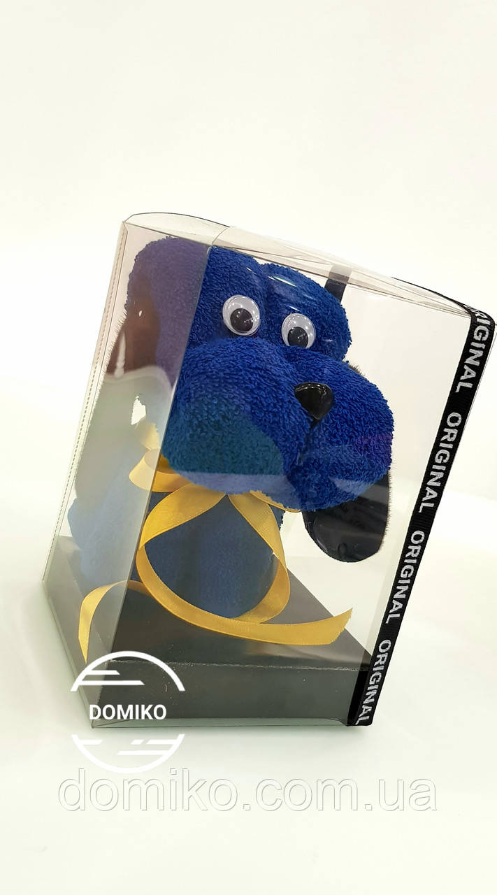 Подарок из махрового полотенца 40*70  Щенок в подарочной упаковке - Domiko