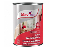 Maxima Эмаль акриловая для дерева и металла Maxima белая 20 л