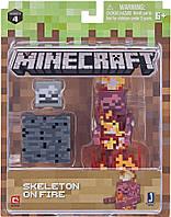 Подвижная фигурка Minecraft Skeleton on Fire