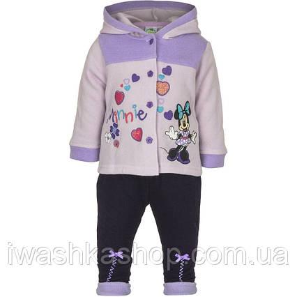 Теплый костюм с Минни Маус, Minnie Mouse на девочек 12 месяцев, р. 74, Disney baby