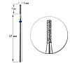 Насадка для фрезера с алмазным напылением - цилиндр 1мм/7мм, фото 2