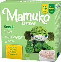 Гречана зелена крупа подрібнена органічна MAMUKO для каші дітям з 4 місяців, 240 г Мамуко