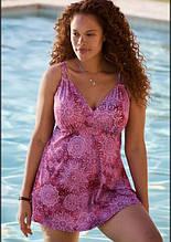 Купальник раздельный. Танкини. Платье пляжное розовое.