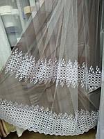 Королевский фатин в вышитым купоном , фото 1