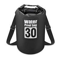 Водонепроницаемый герморюкзак Waterproof Bag 30L черный