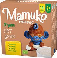 Вівсяна крупа подрібнена органічна MAMUKO для каші дітям з 4 місяців, 240 г Мамуко