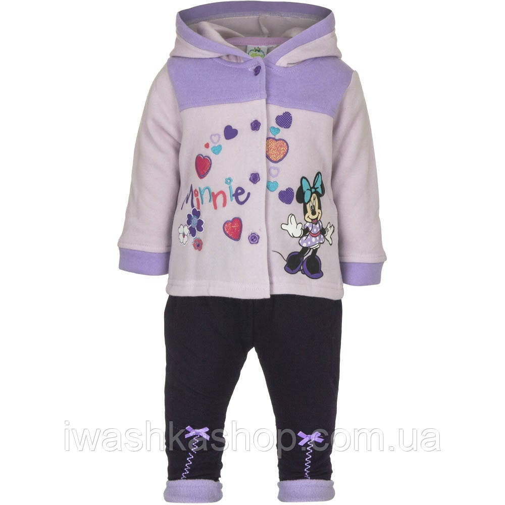 Теплый костюм с Минни Маус, Minnie Mouse на девочек 23 месяцев, р. 86, Disney baby