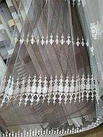 Королевский фатин в вышитым купоном Турецкие тюли, фото 1